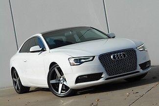 Audi : A5 A5 QUATTRO COUPE * 1-OWNER * 2013 white a 5 quattro books keys leather heated seats satellite radio
