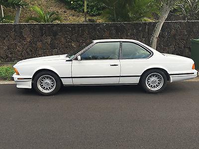 BMW : 6-Series 3 1988 bmw 635 csi 70 100 miles alpine white natur leather original paint clean