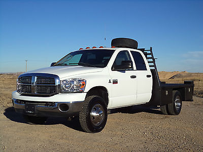 Dodge : Ram 3500 SLT 4 wd 2010 dodge ram 3500 slt crew cab flat bed dually cummins 4 x 4