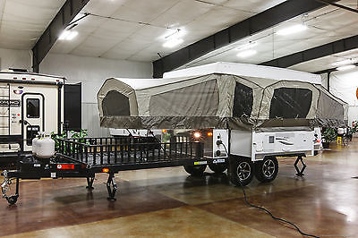New 2016 BR28TSC Pop Up Toy Hauler Slide Out Folding Camper Travel Trailer RV