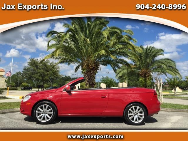 Volkswagen : Eos Komfort 2008 volkswagen eos hardtop convertible red manual clean carfax florida vehicle