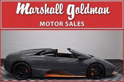 Lamborghini : Murcielago 2010 lambo murcielago lp 650 4 rdster grigio telesto w blk 113 miles 49 of 50