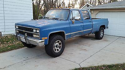 Chevrolet : C/K Pickup 3500 Silverado 1990 chevy silverado 3 3 crew cab k 30 v 3500