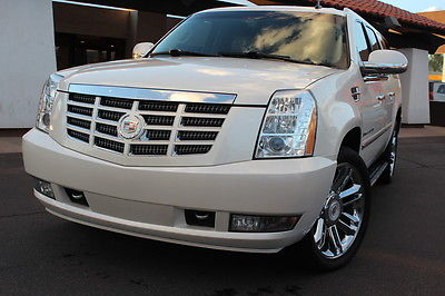 Cadillac : Escalade ESV 2009 cadillac escalade esv awd pearl white loaded nav dvd clean car fax
