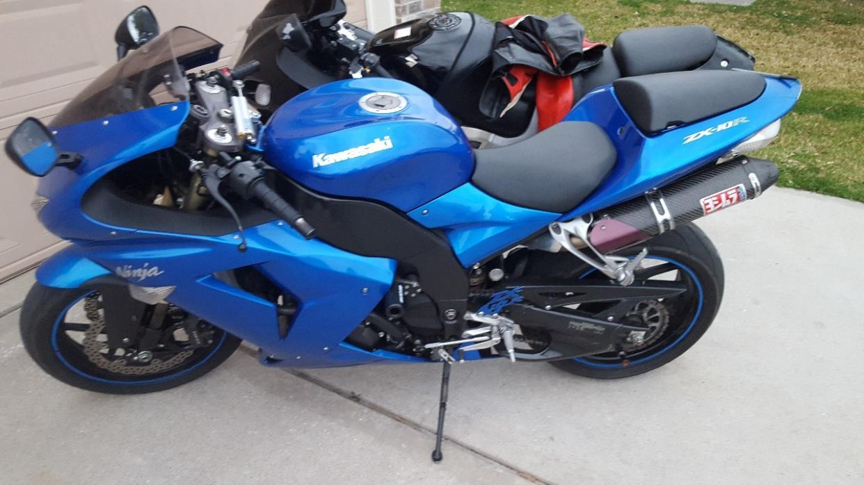 blue kawasaki zx10 motorcycles for sale Ninja ZX10 2007 kawasaki ninja zx 10r abs