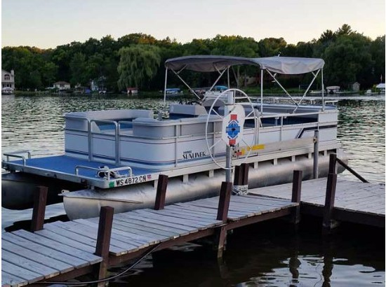 1989 HARRIS FLOTEBOTE 240 Super Sunliner with Shore Station Lift