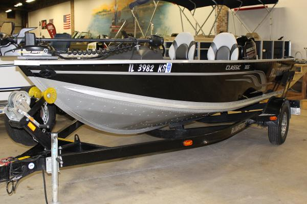 Alumacraft classic 165 boats for sale for 16 foot aluminum boat motor size