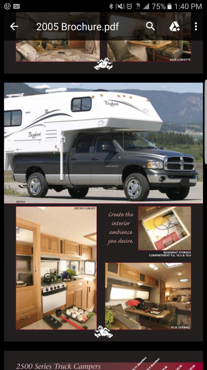 Bigfoot rvs for sale in california 2005 bigfoot 1500 series 15c95 fr publicscrutiny Choice Image