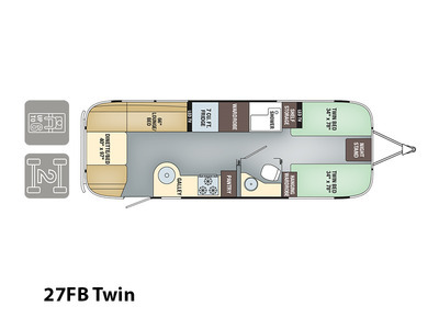 2017 Airstream Flying Cloud 27FB Twin