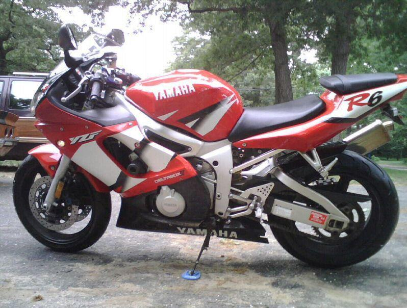2002 Yamaha R6 Red Motorcycles For Sale