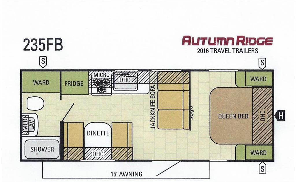 2017 Starcraft Autumn Ridge 235FB Front Queen Rear Bath