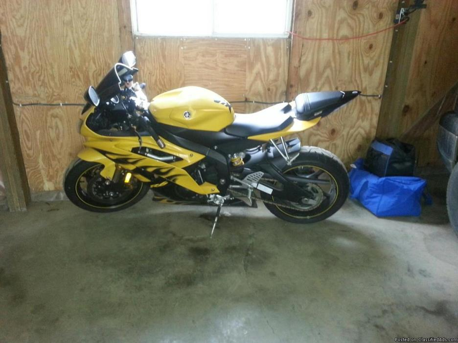 2008 yamaha r6 yellow cars for sale. Black Bedroom Furniture Sets. Home Design Ideas