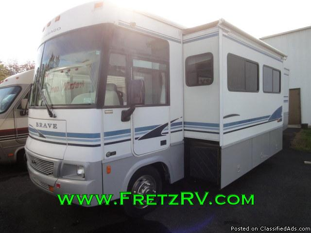 Used 2003 Winnebago Brave 32V Class A Motorhome For Sale At Fretz RV Classified...