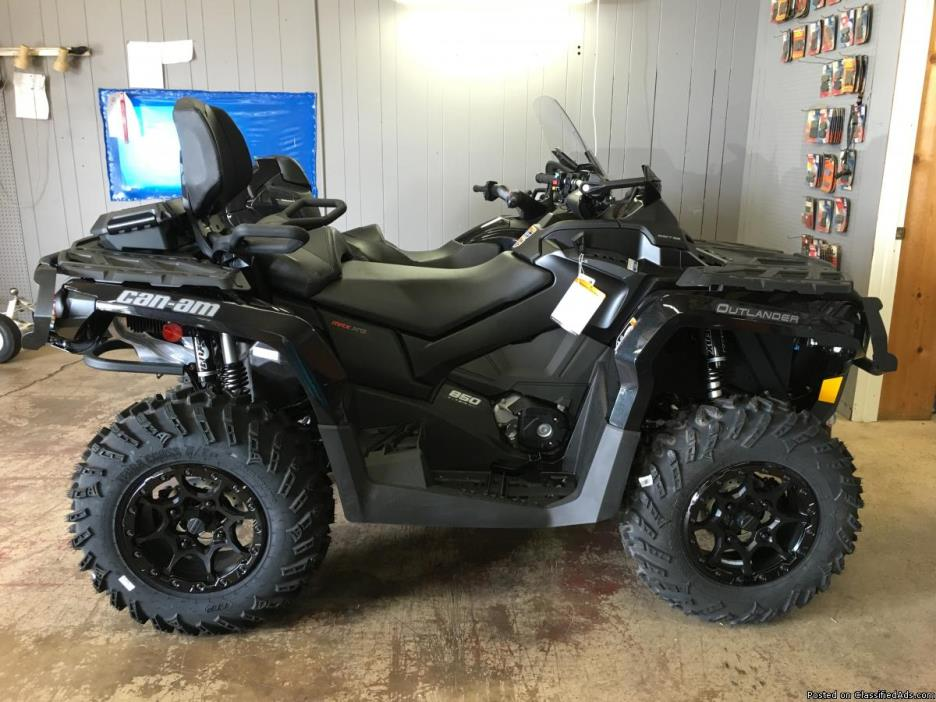 HUGE CAN-AM SALE! NEW 2017 Can-Am Outlander MAX XT-P 850 ATV IN TRIPLE BLACK...