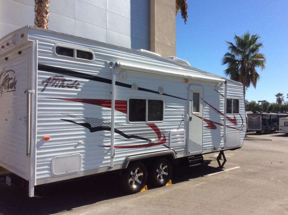 Eclipse attitude toy hauler rvs for sale for Motor home toy haulers