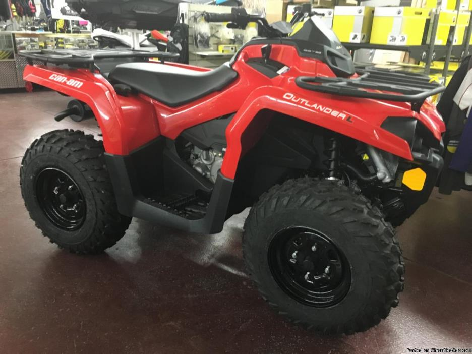 SALE PRICE! New 2016 Can-Am Outlander L 570 ATV in Red #1743 - $5695.00 only at...