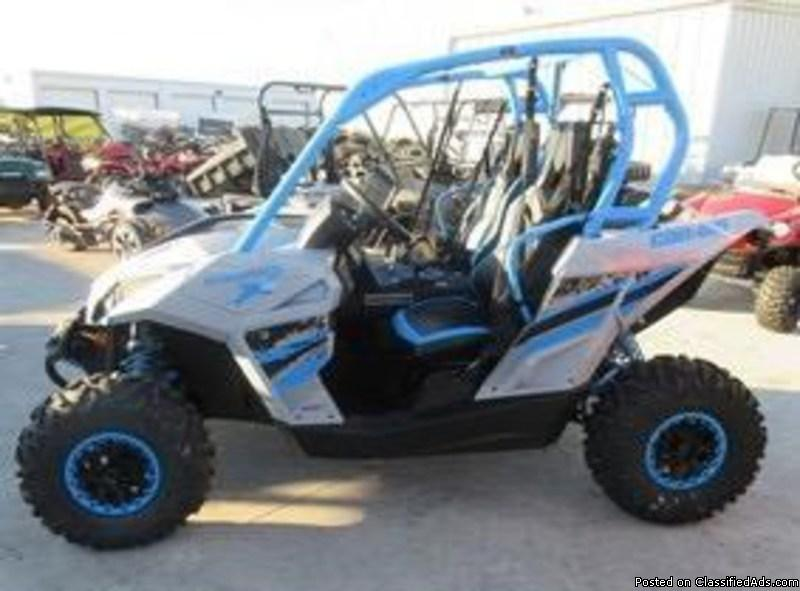 SALE PRICE! New 2016 Can-Am Maverick X XC 1000R Light Grey/Octane Blue $15598...