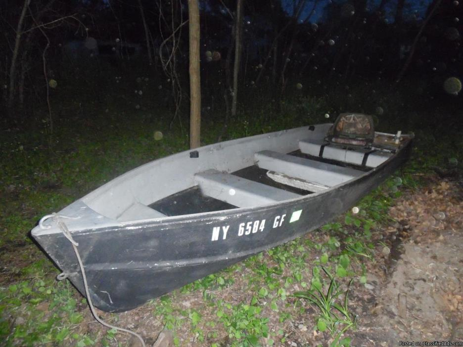 Fishing Boat, Trailer, Outboard Motor