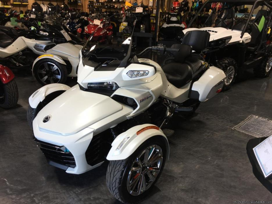 NO HIDDEN FEES! New 2016 Can-Am Spyder F3-T SE6 Motorcycle in White - $19999...