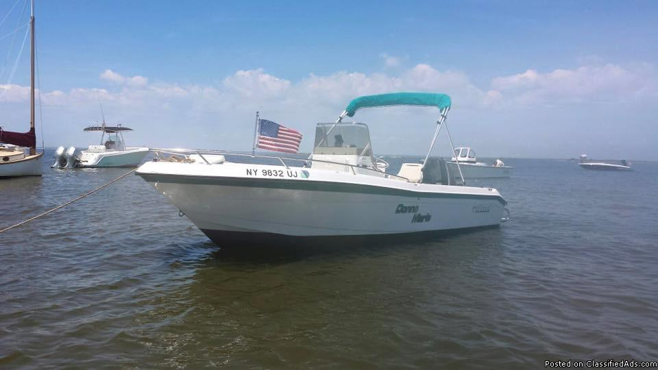 1995 WAHOO 21' CENTER CONSOLE BOAT & EZ LOAD TRAILER
