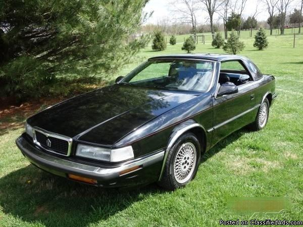 1991 Chrysler TC by Masterati Sports Car For Sale in Bloomington, Indiana 47408
