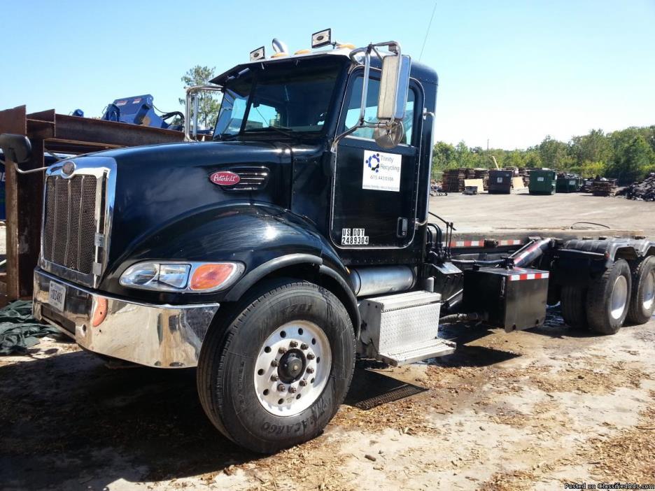 2005 Peterbilt Cable lift Dumpster truck
