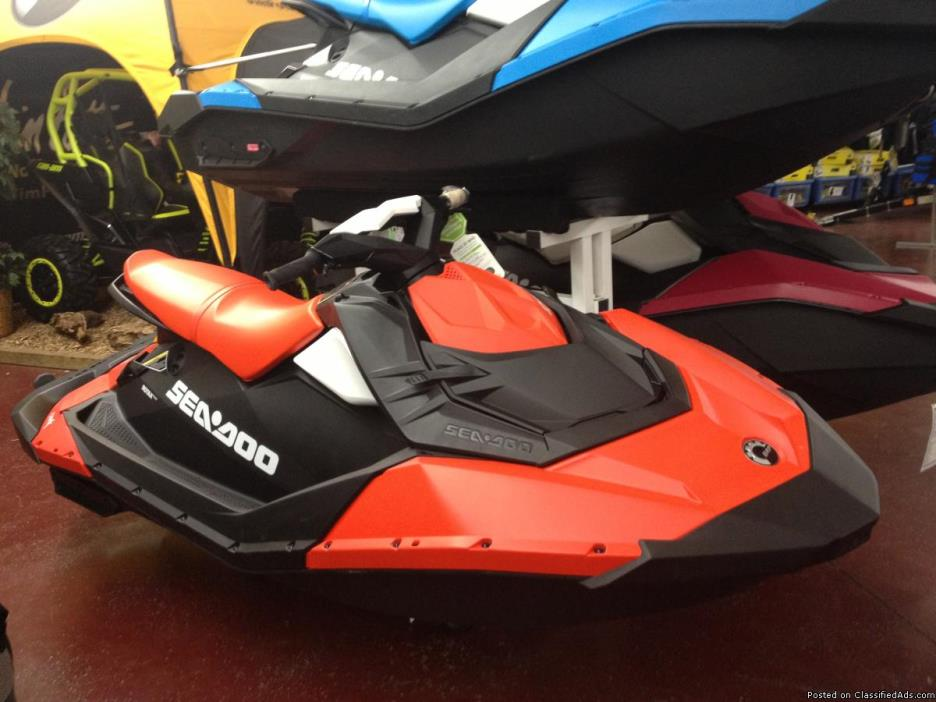 NEW 2016 Sea-Doo Spark 3-Up Rotax 900 HO ACE Personal Watercraft PWC with iBR &...