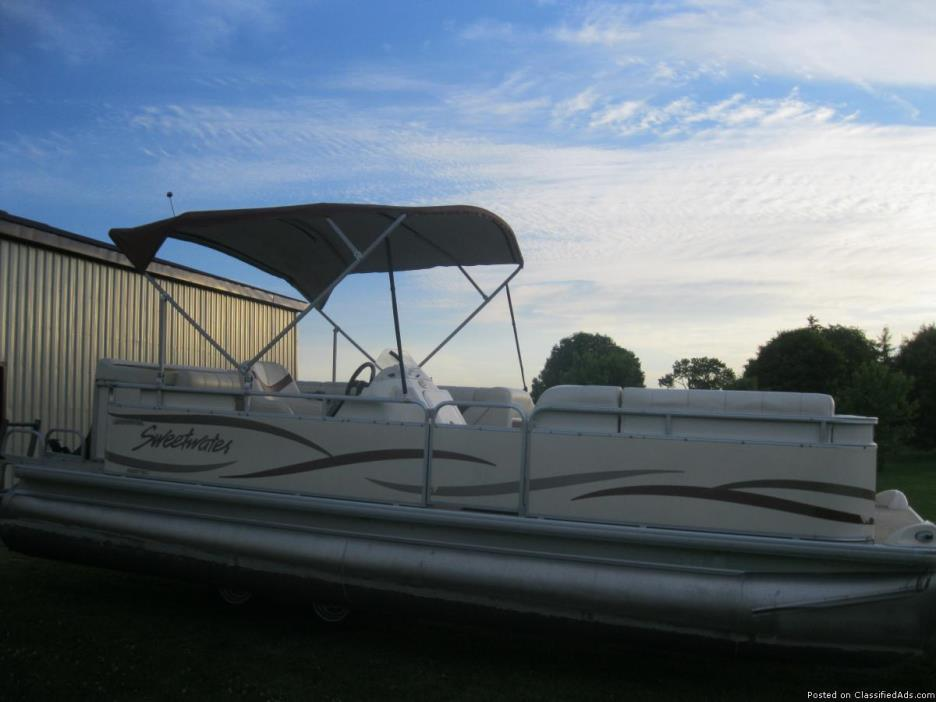 2004 Sweetwater 22' Pontoon Boat w/2005 Mercury 50hp 4 Stroke Bigfoot Now In