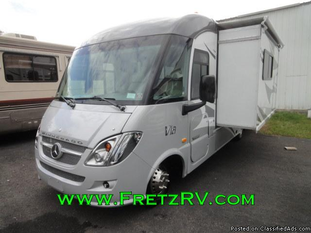 2015 Winnebago Via 25P Mercedes Class A Motorhome For Sale at Fretz RV...