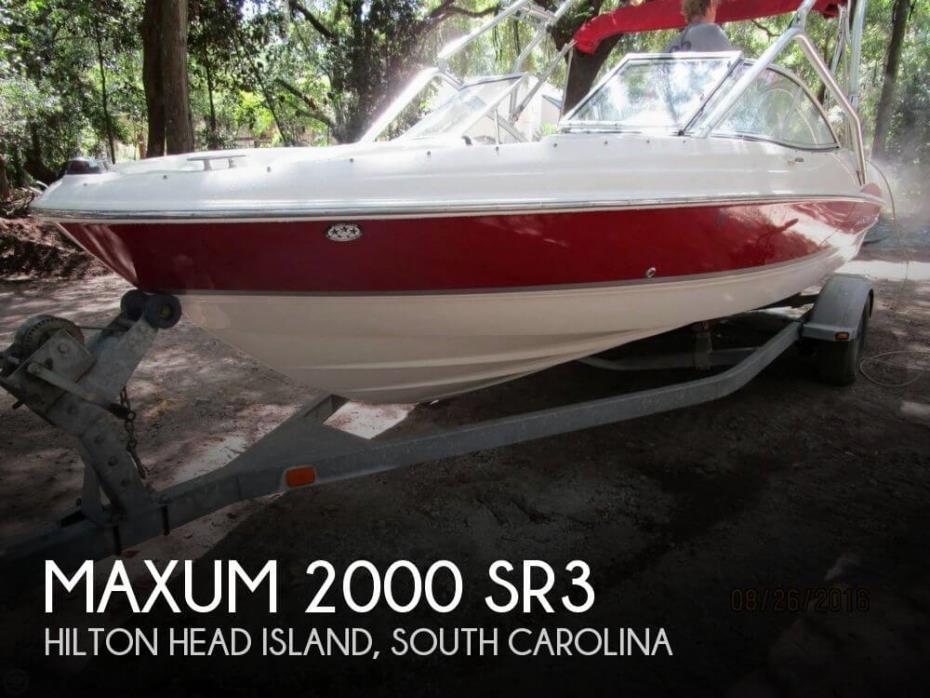 2007 Maxum 2000 SR3